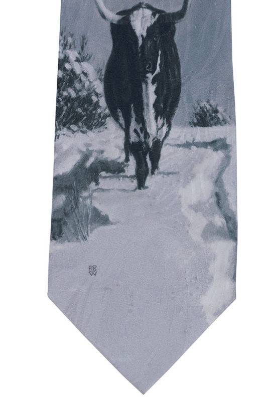 "Rockmount Ltd Edition ""Spats Long Horn"" Silk Tie"