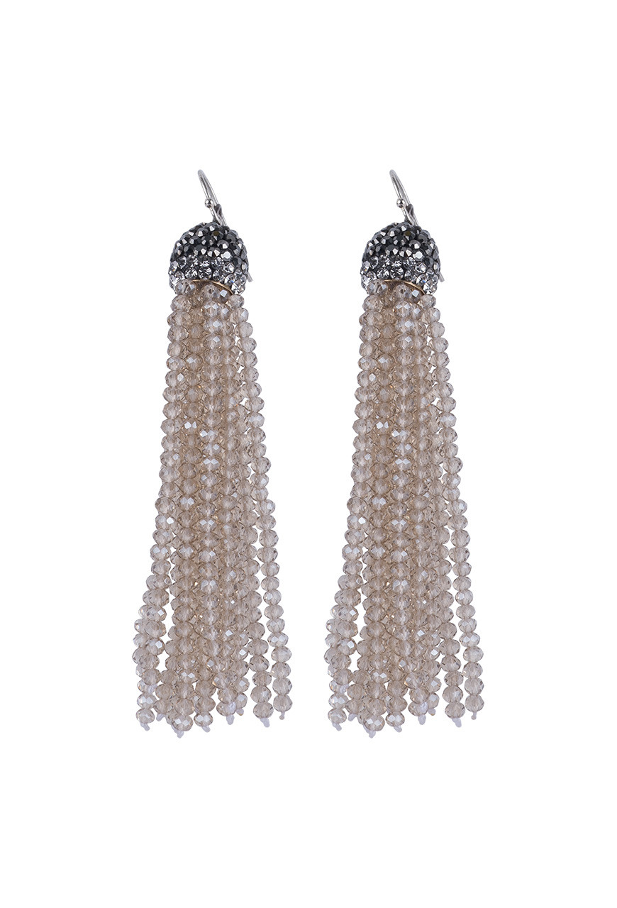 85953ebf6 Ticklebutton Jewels Large Crystal Tassel Earrings - Pinto Ranch