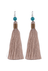 Ticklebutton Jewels Full Silk Tassel Earrings