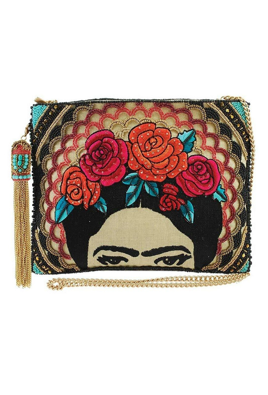 MARY FRANCES FRIDA CROSSBODY CLUTCH