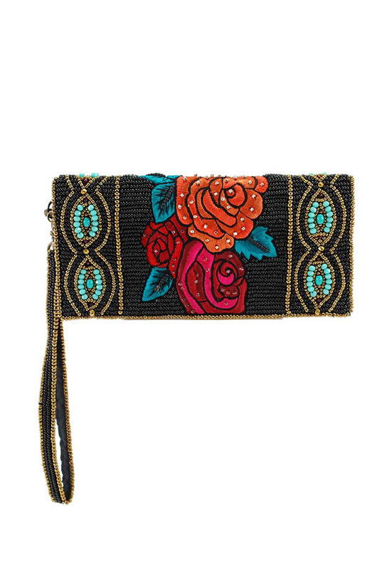 MARY FRANCES FRIDA CROSSBODY WALLET