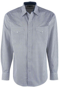 Stetson Blue North Star Geometric Snap Shirt - Front
