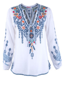Johnny Was Chelsee Blouse - Front