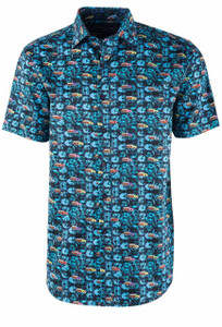 David Smith Wood Print Short Sleeve Shirt - Front