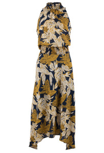 Veronica M Women's Kayleen Banana leaf Hi Low Dress  - Front