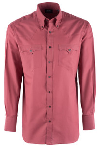 Lyle Lovett Men's Adobe Red Twill Shirt - Front