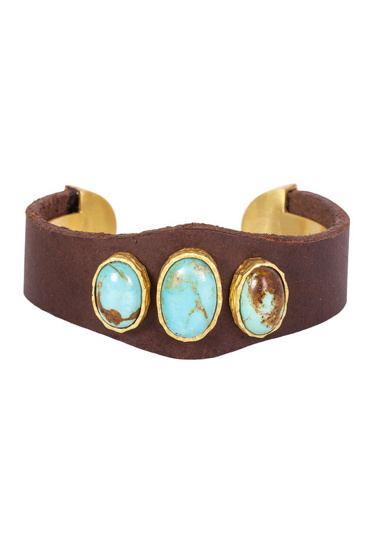 Christina Greene Earthy Leather Cuff