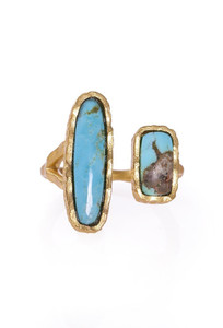 Christina Greene Deco Twin Turquoise Ring