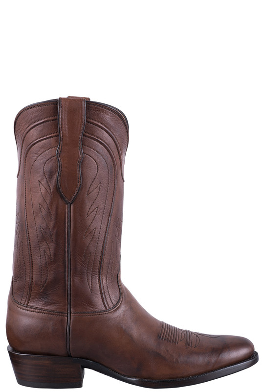 Black Jack Exclusive Burnished Brown Ranch Hand Boots  - Side