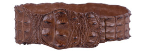 Kulu Cognac Crocodile Fashion Belt - Large