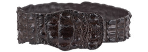 Kulu Brown Crocodile Fashion Belt - Medium