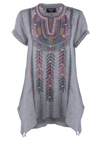 Johnny Was 3J Workshop Gaia Boho Drape Top - Front