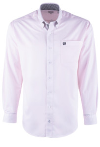 Cinch Pink Stripe Tencel Sport Shirt - Front