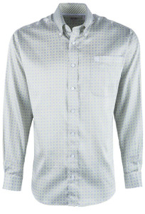 Cinch Gray Tencel Print Sport Shirt - Front