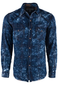 Ryan Michael Double Cloth Indigo Shirt  - Front