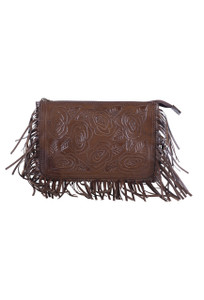 Hide and Chic Zarita Tooled Handbag - Front