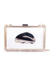 Christina Greene Black Agate Game Day Clutch