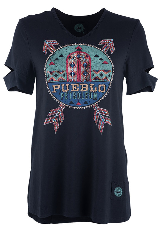 Double D Ranch Pueblo Petroleum Tee Top - Front