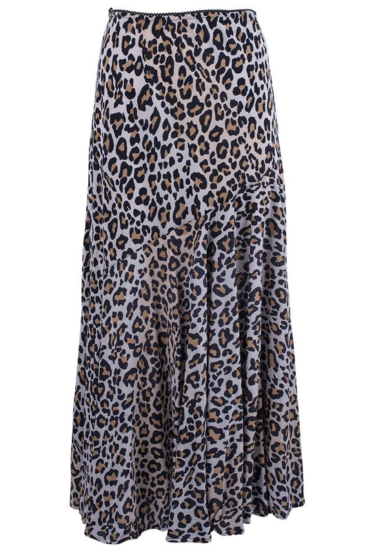 Lola P Leopard Skirt - Front
