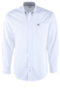 Cinch Tonal White Paisley Sport Shirt - Front