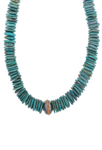 DK Designs Arizona Turquoise Necklace with Spiney Oyster - Closeup