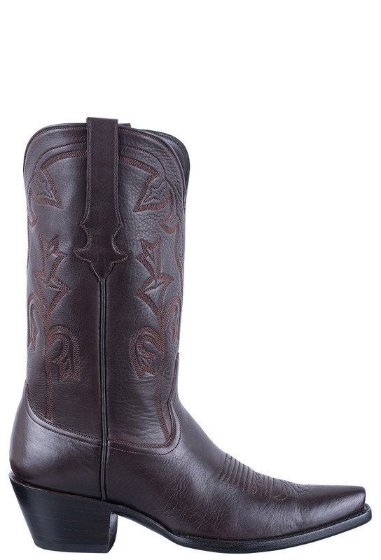 STALLION CHOCOLATE ITALIAN CALF COWGIRL BOOTS