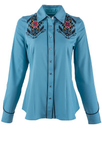 Roper Old West Classics Women's Aztec Thunderbird Snap Shirt  - Front