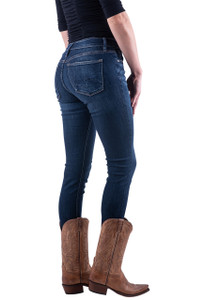 Silver Jeans Co. Suki Mid Rise Skinny Dark Wash Jeans - Hero
