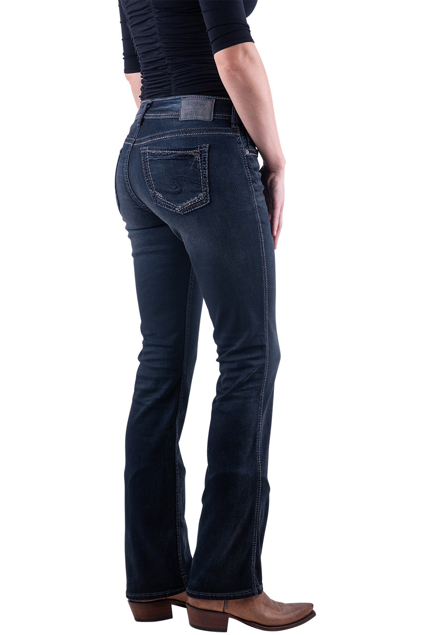 Womens Silver Jeans Mid Rise Embroidered Suki Bootcut Stretch 26,28,30,31,32