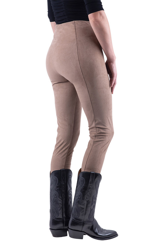 Lyssé Latte Hi Waist Suede Leggings - Hero
