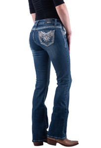 Grace in L.A. Crystal Boot Cut Jeans - Hero