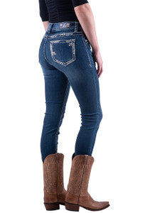 Grace in L.A. Embroidered Outline Skinny Jeans - Hero