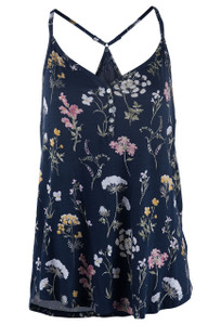 P.J. Salvage Midnight Floral Pajama Set - Top-Front