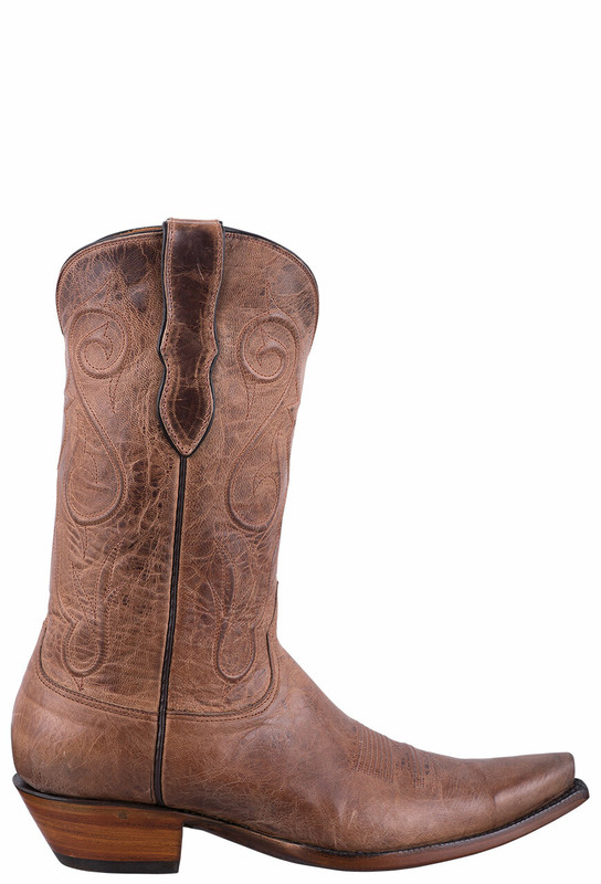 Black Jack Exclusive Tan Mad Dog Goat Boots - Side