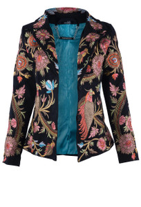 Paparazzi by Biz Birds of Paradise Embroidered Blazer - Front