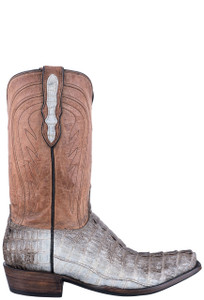 Black Jack Exclusive Natural Caiman Tail Boots - Side