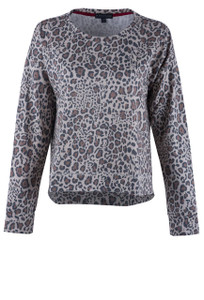 P.J. Salvage Wild Heart Long Sleeve Pullover Top - Front