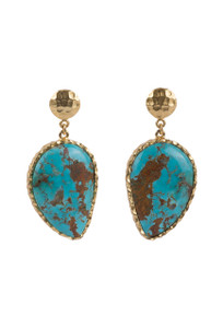 Christina Greene Turquoise Moon Earrings