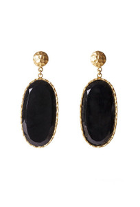 Christina Greene Black Onyx Large Drop Earrings