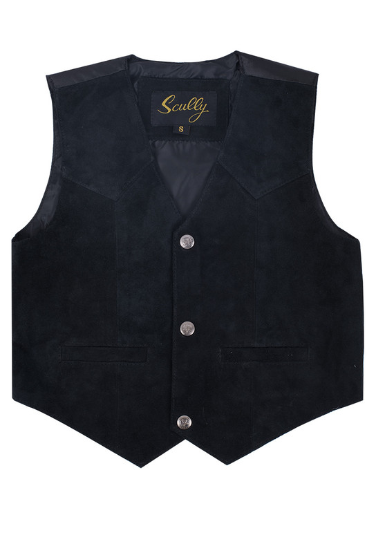 Scully Kids' Suede Vest - Front