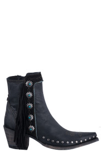 Double D Ranch by Old Gringo Black Apache Kid Boots - Side