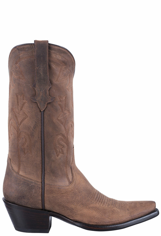Stallion Tan Mad Dog Goat Cowgirl Boots - Side