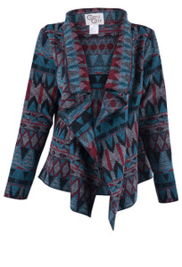 Cripple Creek Turquoise Aztec Jacket - Front