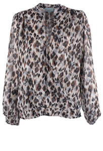 Veronica M Women's Indiana Leopard Surplice Top - Front