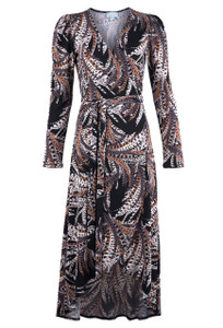 Veronica M Women's Roshan Surplice Wrap Dress - Front