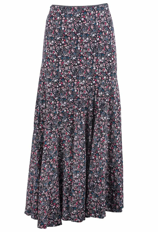 Lola P Ditsy Floral Skirt - Front