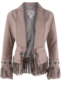 Cripple Creek Shawl Collar Suede Jacket - Front
