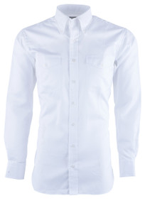 Pinto Ranch YY Collection Men's White Dobbie Solid Dress Shirt - Front