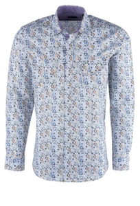 Pinto Ranch YY Collection Multicolor Vine Snap Shirt - Front
