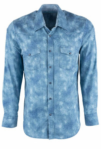 Pinto Ranch YY Collection Indigo Faro Fade Snap Shirt - Front